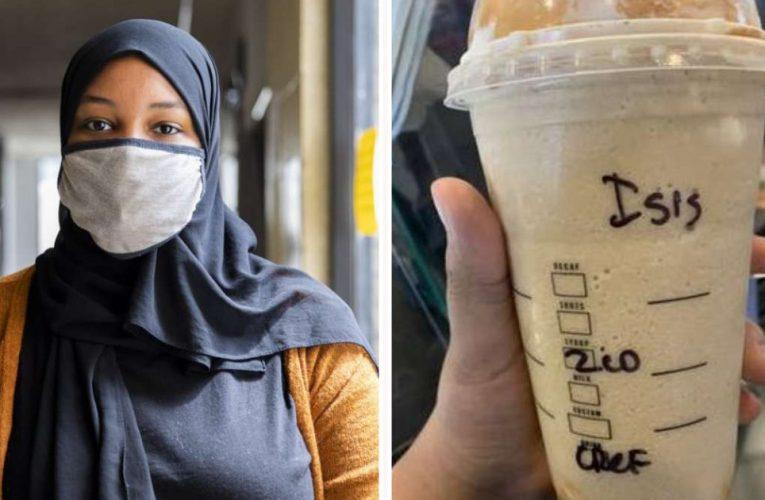 """امرأة مسلمة تتقدم بشكوى بعد أن كتبت ستاربكس باريستا """"داعش"""" في كأسها"""